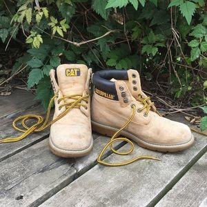 Size 4 Caterpillar Tan Boots
